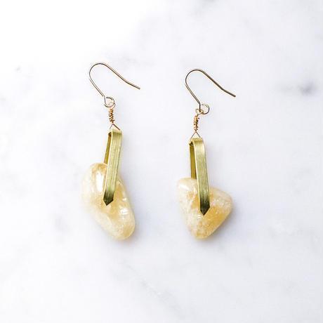 Brass & Citrine Drop Earrings 2