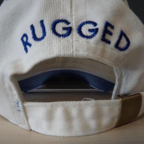 "RUGGED ""OLD R"" adjuster cap(blue × white)"
