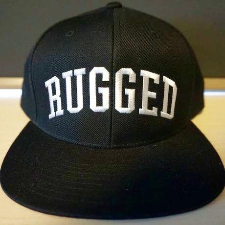 "RUGGED    ""Arch Logo"" Snap back (Black×White)"