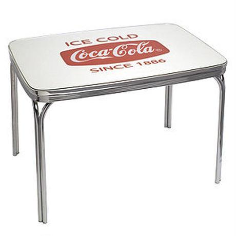 COCA-COLA ダイナー テーブル ホワイト グラス トップ PJ-600DL