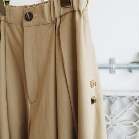 SHIROMA 18S/S ANARCHY slit wide chino pants