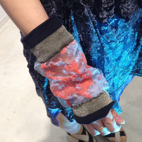 SHIROMA sleeve - blue×orange -