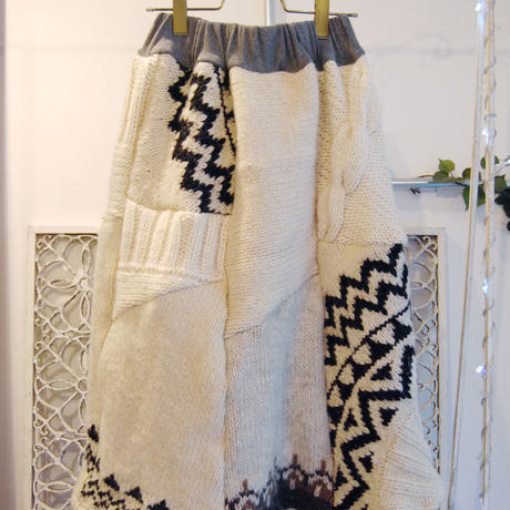 Yan na Maury mix knit skirt 【2】