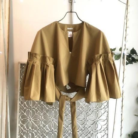 BANZAI drape tops -mustard-