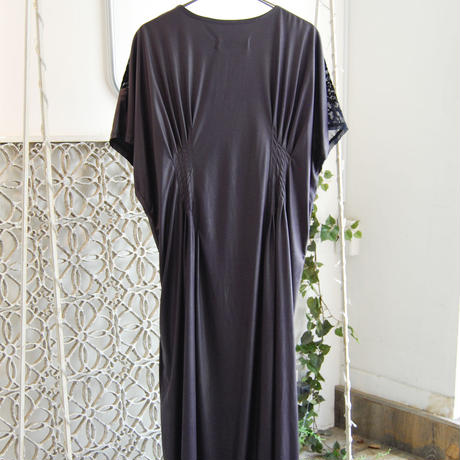 SHIROMA 20-21A/W flocky Synthetic Leather dress