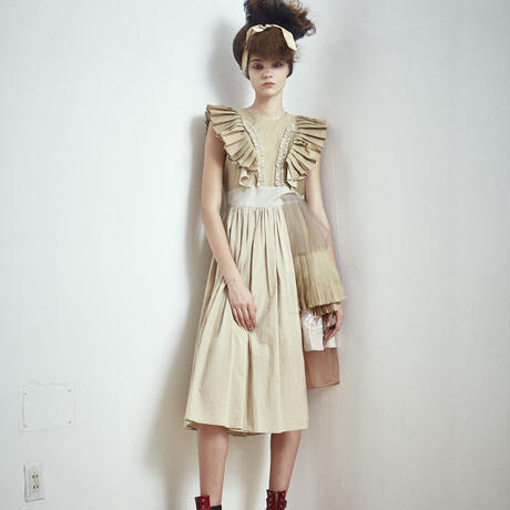 SHIROMA 17S/S BREAK embroidery pleats dress