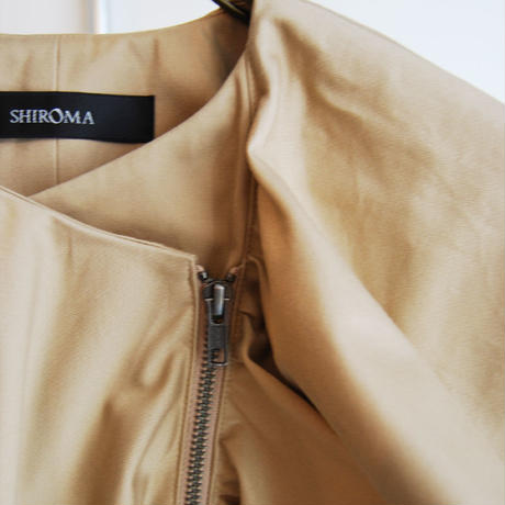 SHIROMA 17S/S BREAK ruffle jacket