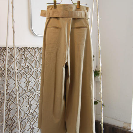 SHIROMA 19S/S high waist slit pants