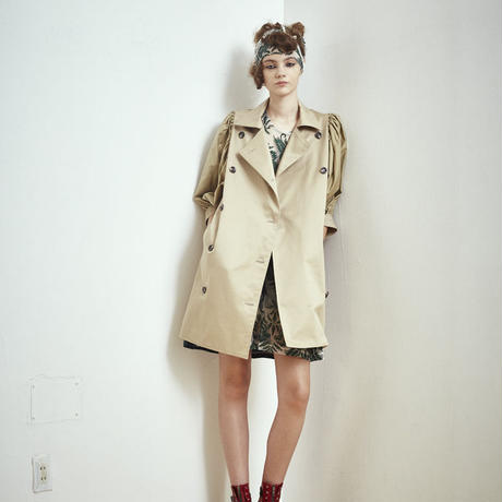 SHIROMA 17S/S BREAK puff trench coat
