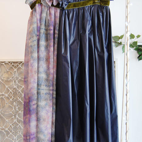 SHIROMA 16-17A/W DARK AGES wrap skirt -blue-