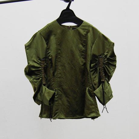 SHIROMA 20-21A/W Cord lock satin blouse