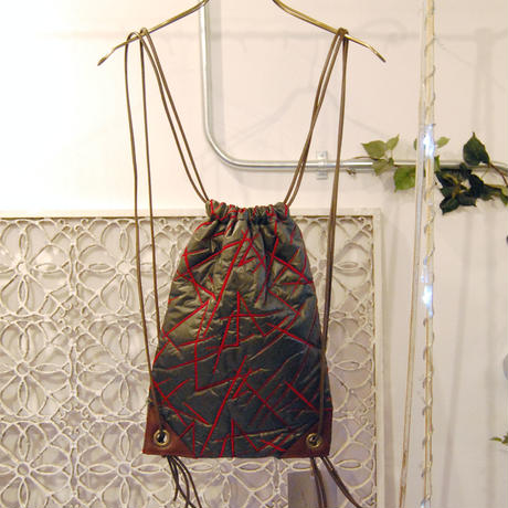 SHIROMA 16-17A/W DARK AGES embroidery quilting nylon knappsack -M-