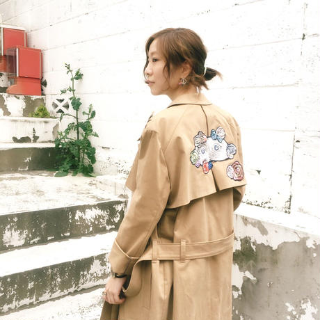 ma.macaron×GUSUCUMA trench coat -eye mask-