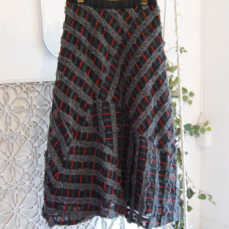 SHIROMA 17-18A/W Female punks Jacquard long skirt