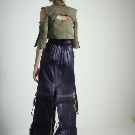 SHIROMA 18S/S ANARCHY satin spindle skirt