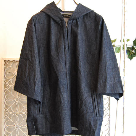 SHIROMA 16S/S chase the unknown  denim parka -indigo-