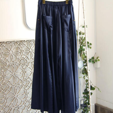SHIROMA 18S/S ANARCHY slit wide satin pants