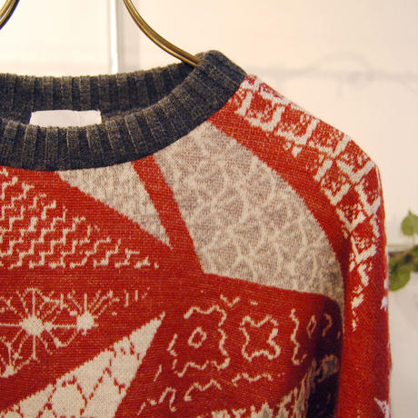 BANSAN sashiko wool sweater