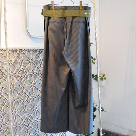 SHIROMA 20S/S tuck wide slacks