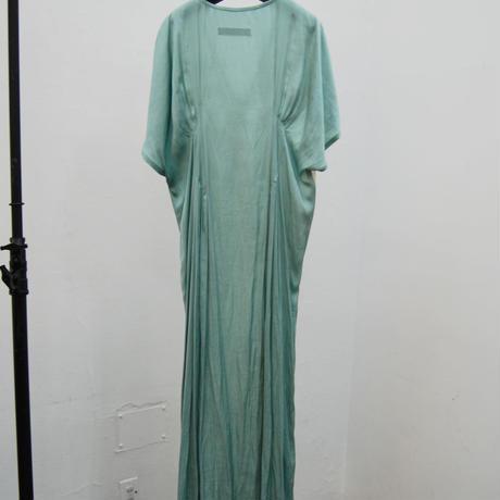 SHIROMA 20-21A/W pin tuck flocky chiffon dress