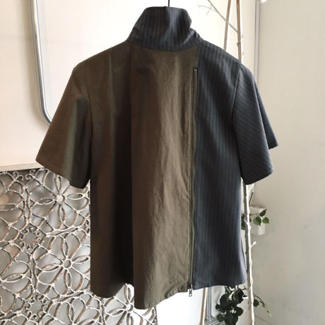 SHIROMA 20S/S high-necked shirt