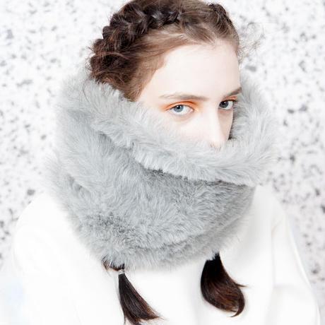 Restock!! SOMEWHERE NOWHERE grey fur snood