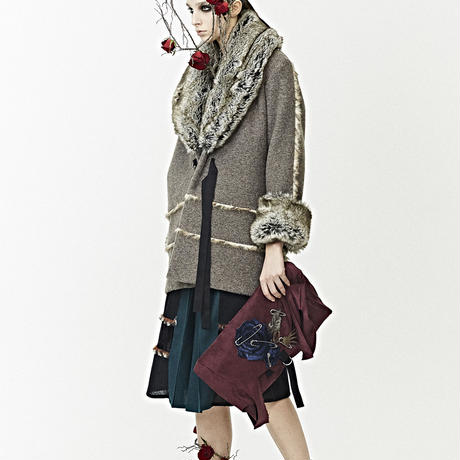 SHIROMA 17-18A/W Female punks fur coat