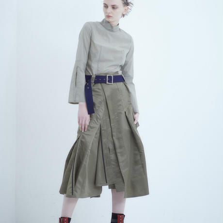 SHIROMA 18-19A/W CHURCH break up ma-1 skirt