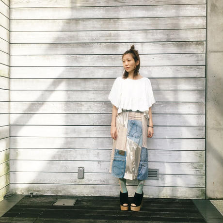 Yan na Maury mix blouson skirt 【1】