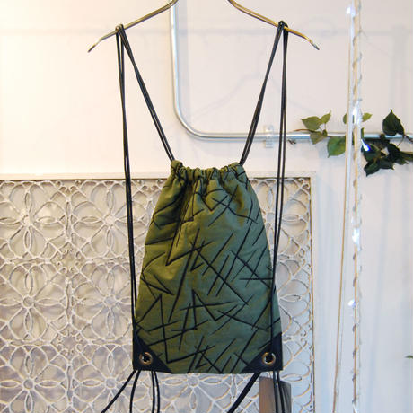 SHIROMA 16-17A/W DARK AGES embroidery quilting knappsack -M-