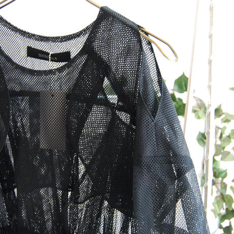 SHIROMA 18S/S ANARCHY overlay mesh blouse