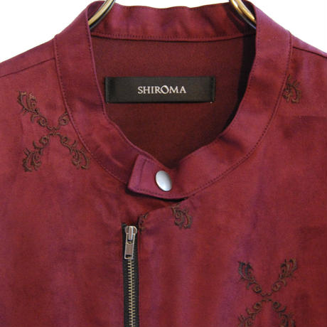 SHIROMA 17-18A/W Female punks embroidery suede jacket
