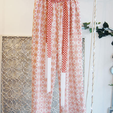 BANSAN lame print pants -red-