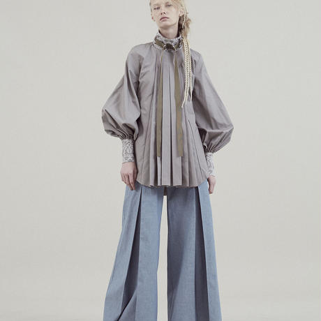 SHIROMA 20S/S tuck blouse