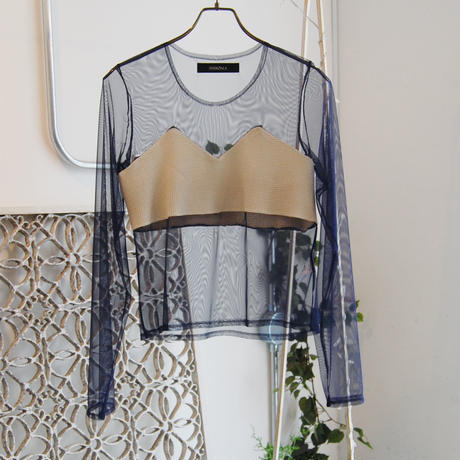 SHIROMA 19S/S tulle waffle top