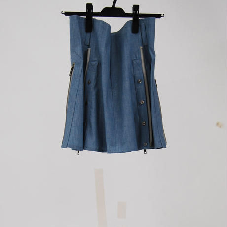 SHIROMA 20S/S denim corset skirt