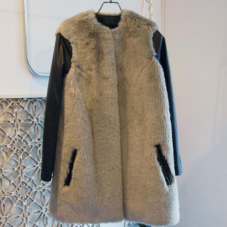 60%OFF!!!SAMPLE SALE!! SHIROMA fake fur no collar coat