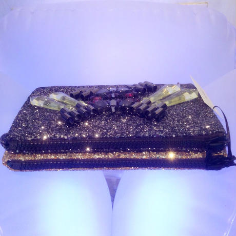 MAWI GLITTER DOUBLE CLUTCH BAG