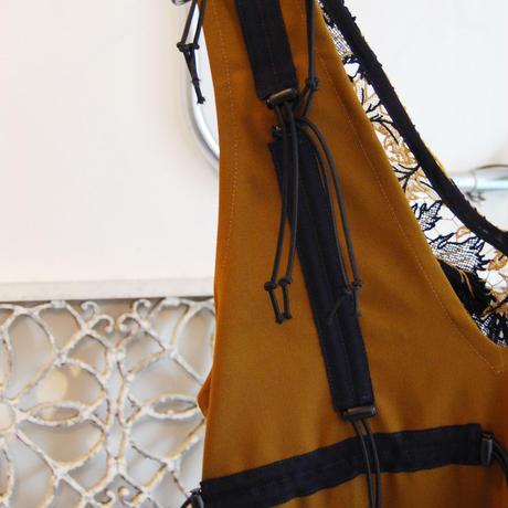 SHIROMA 19-20A/W cord lock lace dress