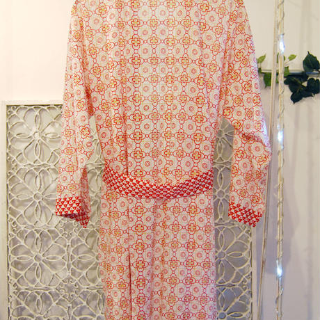 BANSAN lame print gown -red-