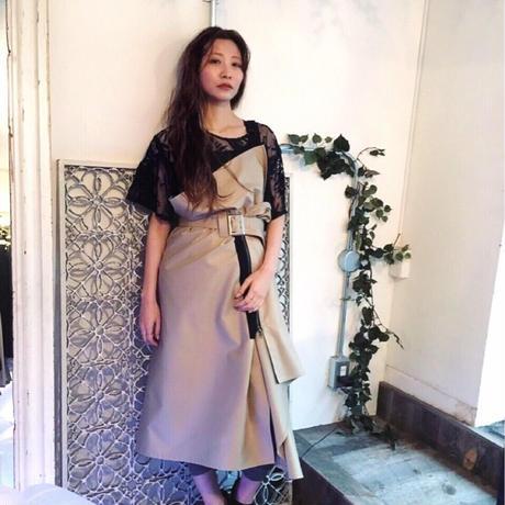 SHIROMA trench wrap dress