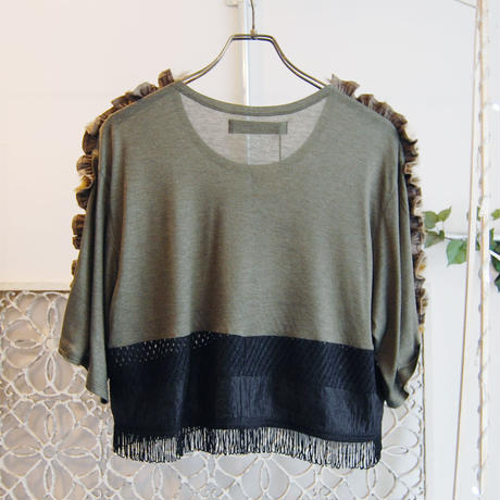 SHIROMA 16-17A/W DARK AGES frill fringe tops