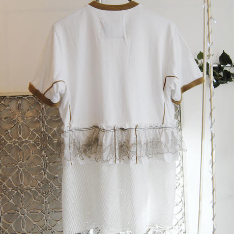 Yan na Maury remake lace tunic -white-