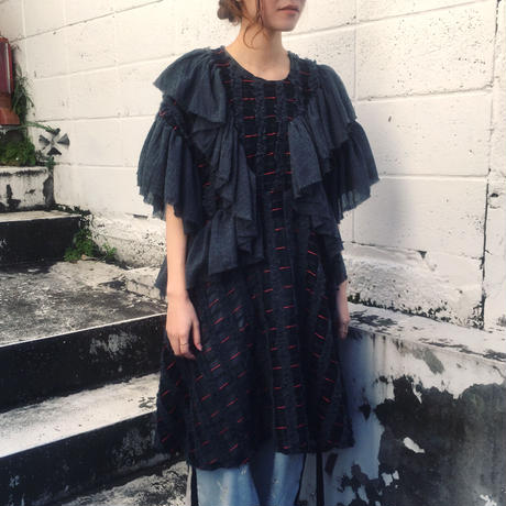 SHIROMA 17-18A/W Female punks Jacquard frill dress