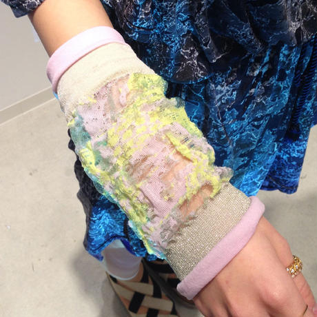 SHIROMA sleeve - lavender×yellow -