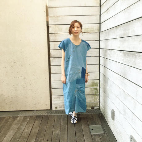 Yan na Maury dungaree shirt dress