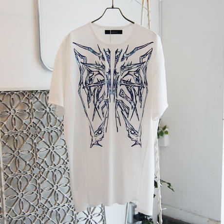 SHIROMA 18S/S ANARCHY embroidery big t-shirts
