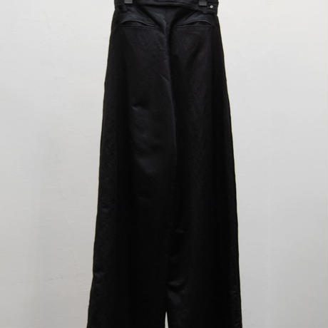 SHIROMA 20-21A/W tuck wide satin pants