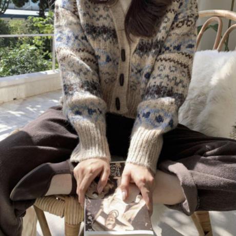 《予約販売》wool duffle retro cardigan
