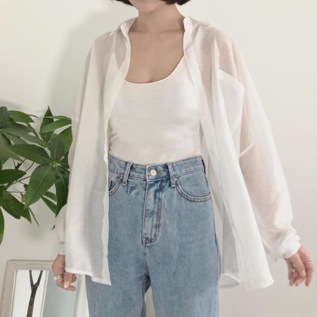 《予約販売》see-through big shirt